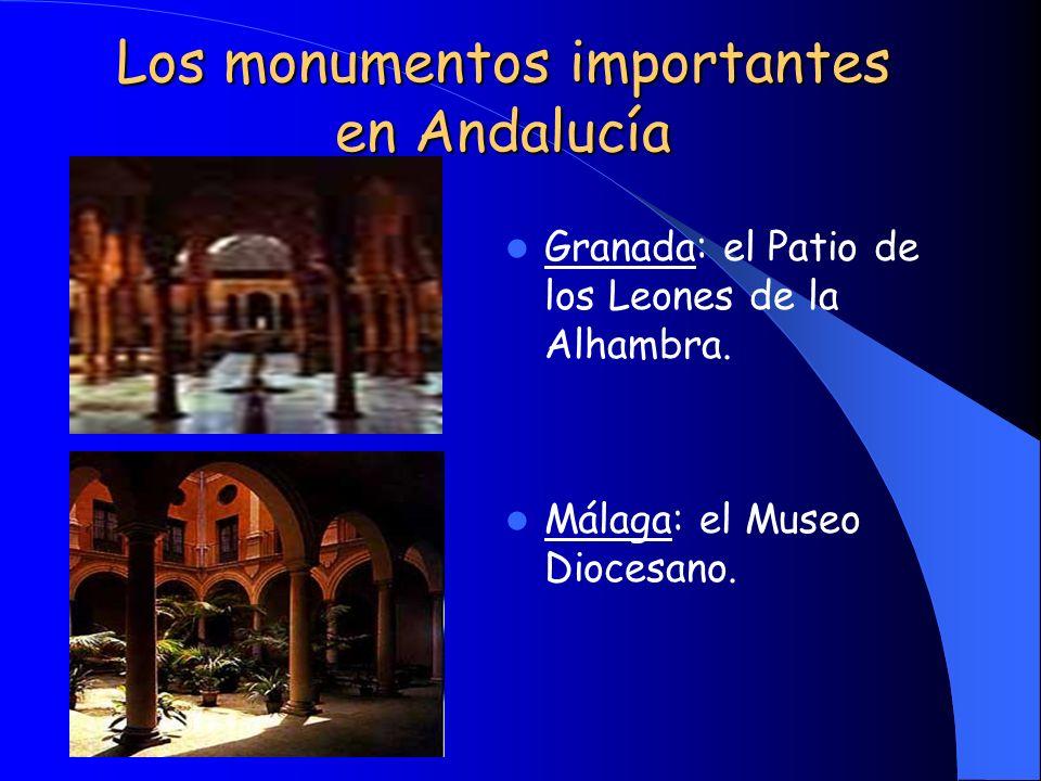 Los monumentos importantes en Andalucía
