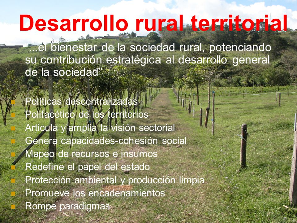 Desarrollo rural territorial
