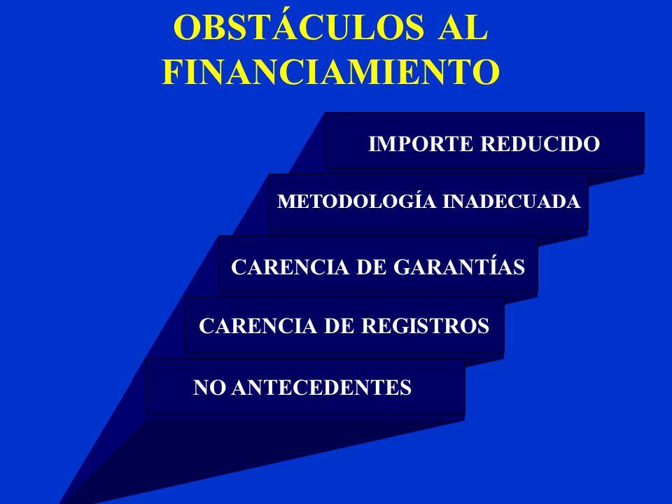 OBSTÁCULOS AL FINANCIAMIENTO