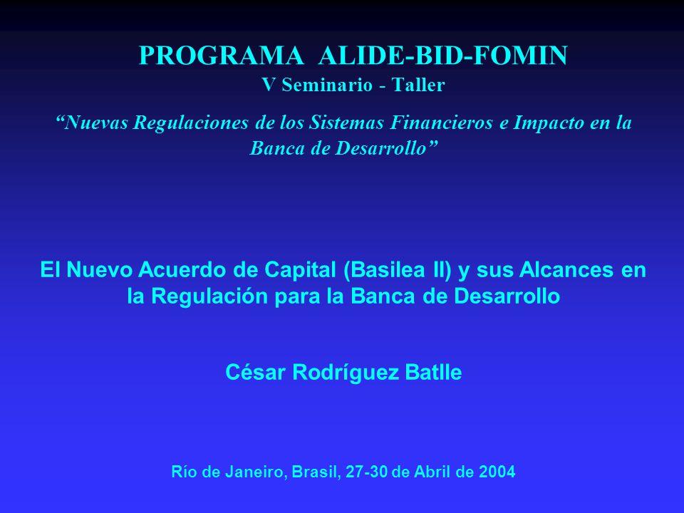 PROGRAMA ALIDE-BID-FOMIN V Seminario - Taller
