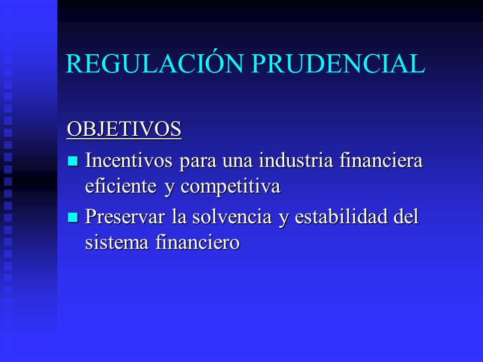 REGULACIÓN PRUDENCIAL