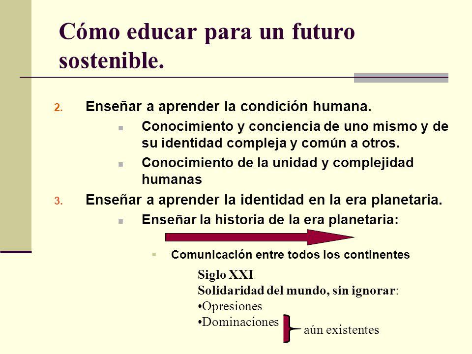 Cómo educar para un futuro sostenible.