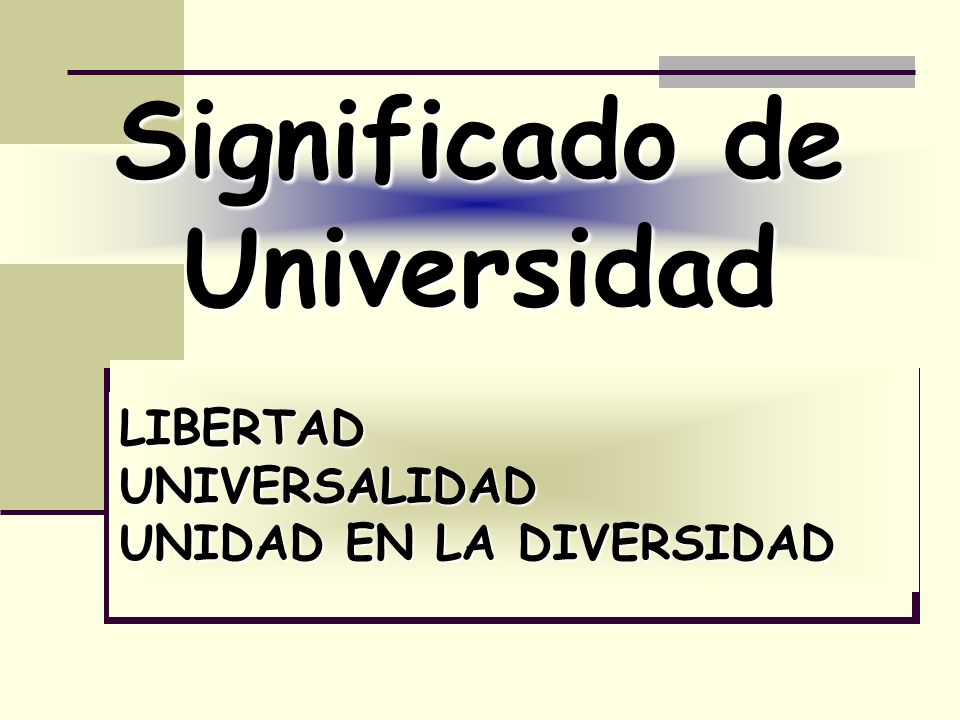 Significado de Universidad