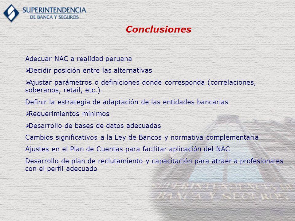 Conclusiones Adecuar NAC a realidad peruana