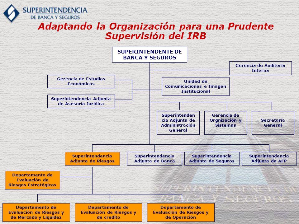 Adaptando la Organización para una Prudente Supervisión del IRB