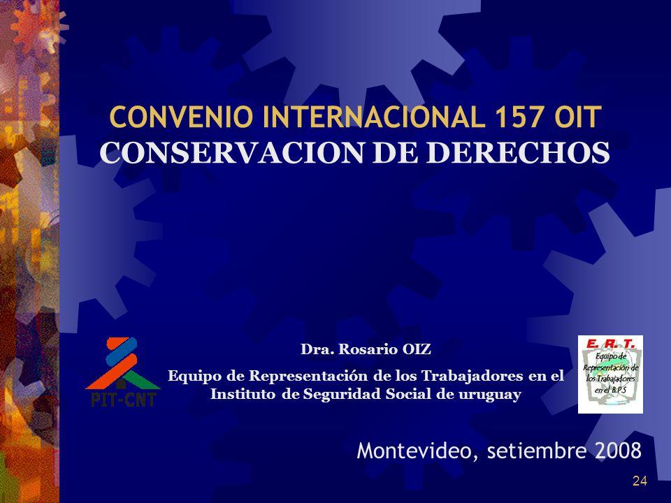 CONVENIO INTERNACIONAL 157 OIT CONSERVACION DE DERECHOS