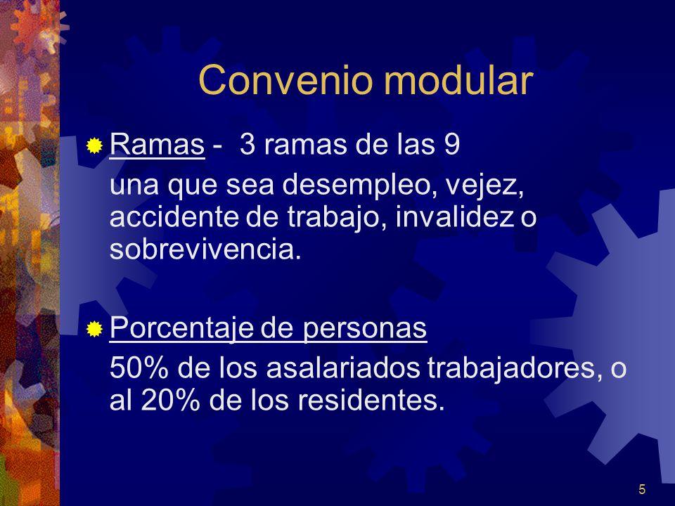 Convenio modular Ramas - 3 ramas de las 9