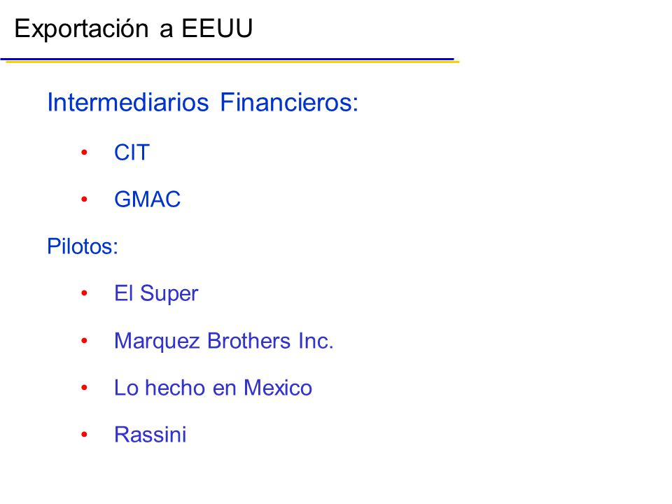 Intermediarios Financieros:
