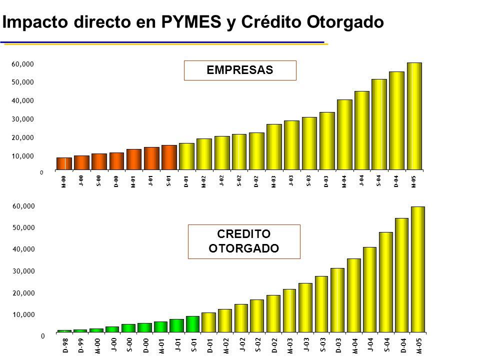 Impacto directo en PYMES y Crédito Otorgado