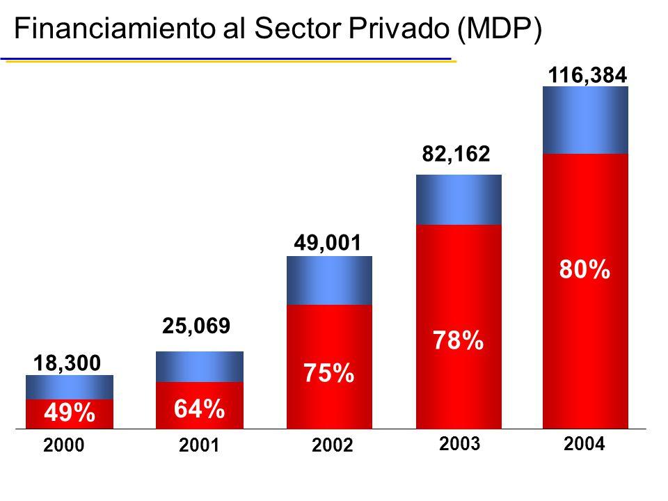 Financiamiento al Sector Privado (MDP)