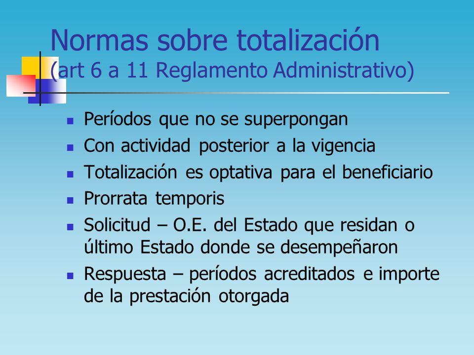 Normas sobre totalización (art 6 a 11 Reglamento Administrativo)