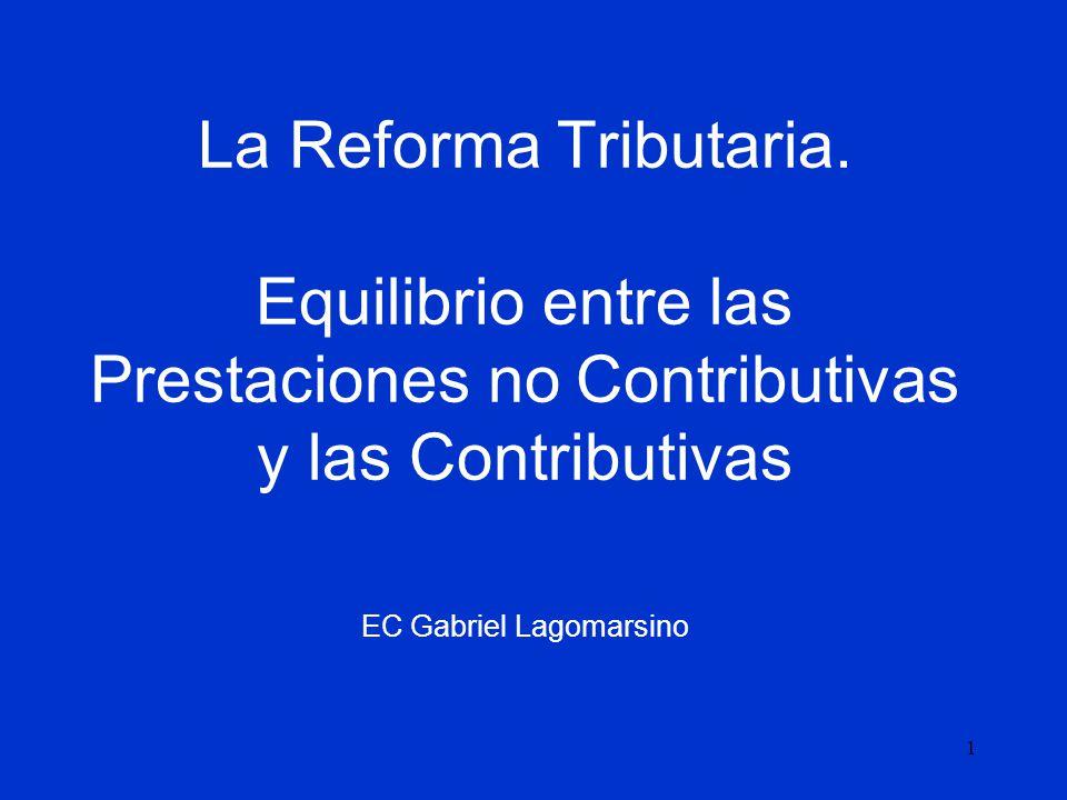 La Reforma Tributaria.