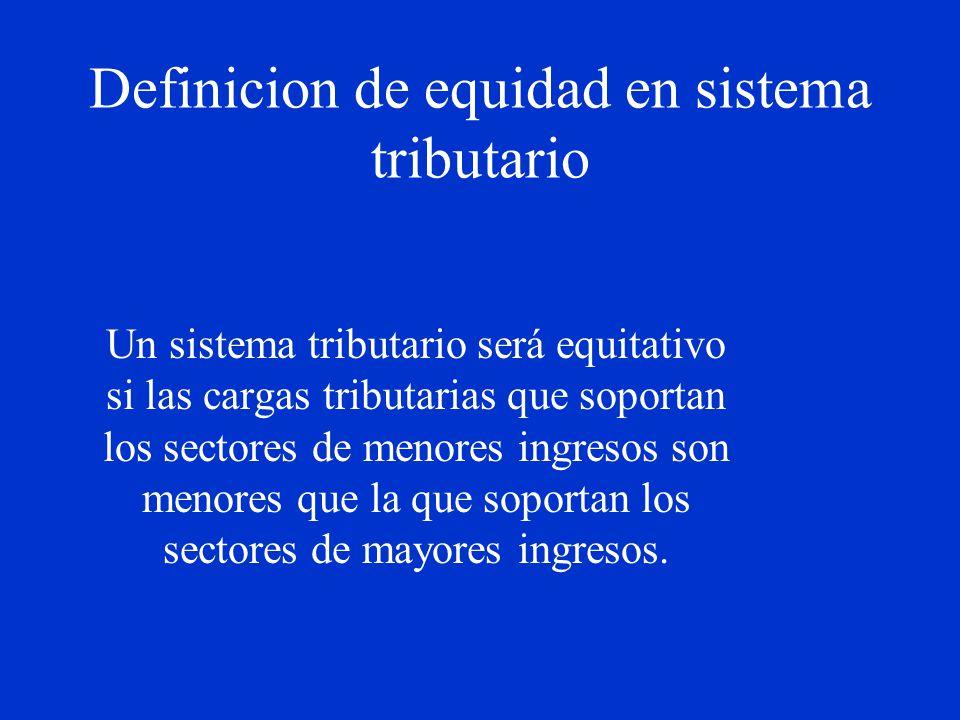 Definicion de equidad en sistema tributario