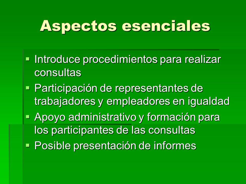 Aspectos esenciales Introduce procedimientos para realizar consultas