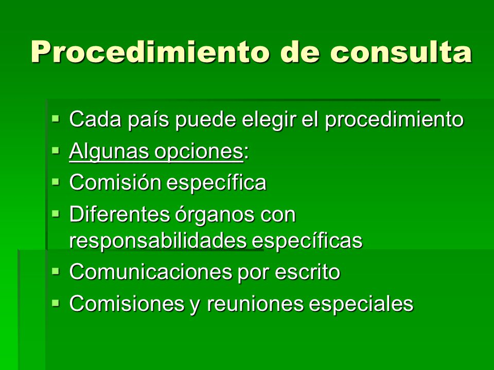 Procedimiento de consulta