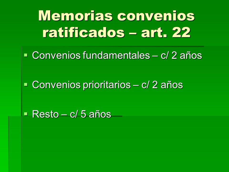 Memorias convenios ratificados – art. 22