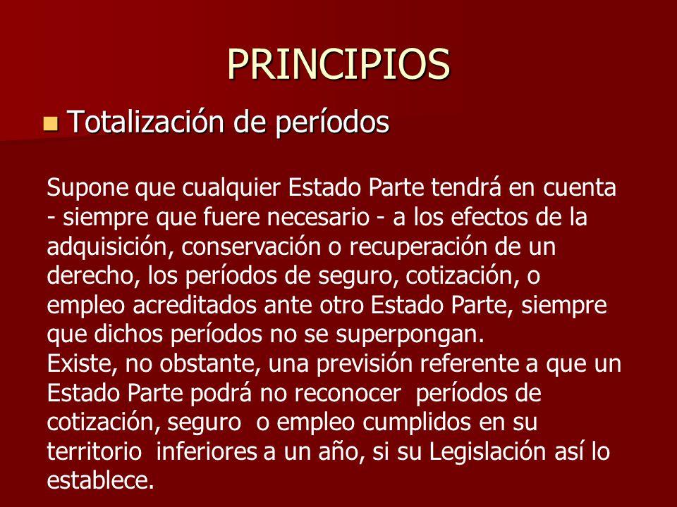PRINCIPIOS Totalización de períodos