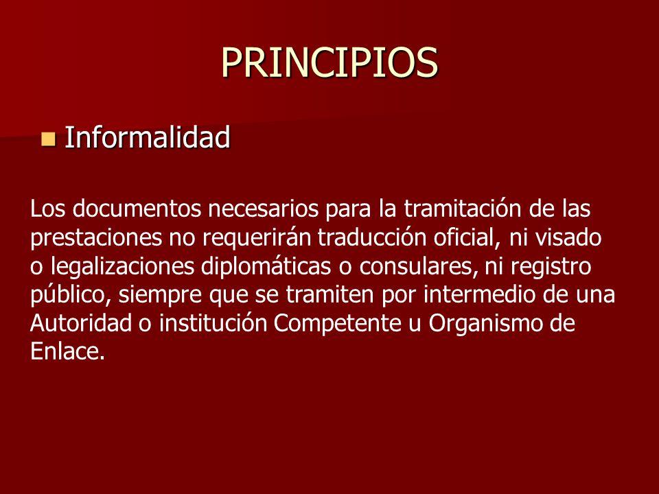 PRINCIPIOS Informalidad