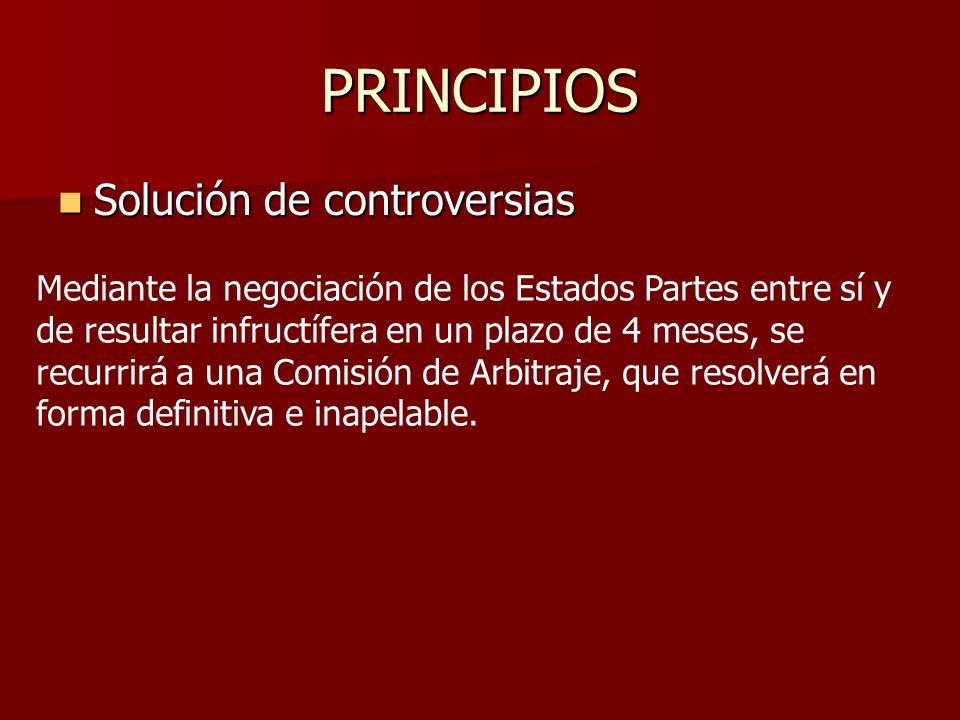 PRINCIPIOS Solución de controversias