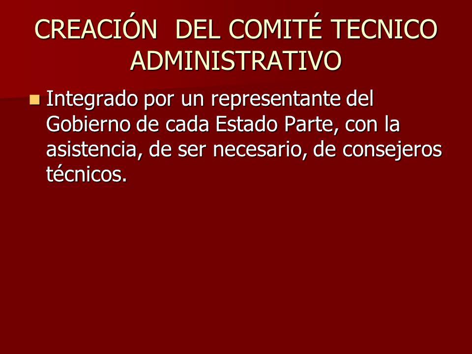 CREACIÓN DEL COMITÉ TECNICO ADMINISTRATIVO