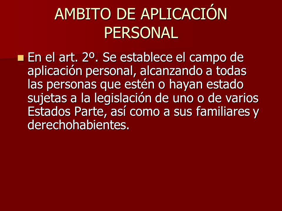 AMBITO DE APLICACIÓN PERSONAL