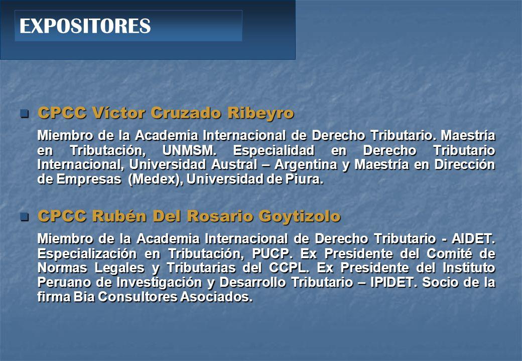 EXPOSITORES CPCC Víctor Cruzado Ribeyro