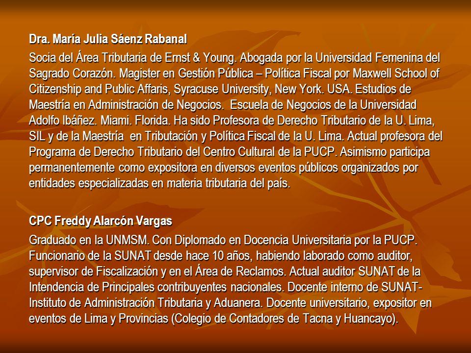 Dra. María Julia Sáenz Rabanal