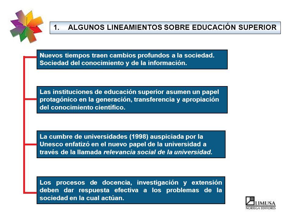 ALGUNOS LINEAMIENTOS SOBRE EDUCACIÓN SUPERIOR
