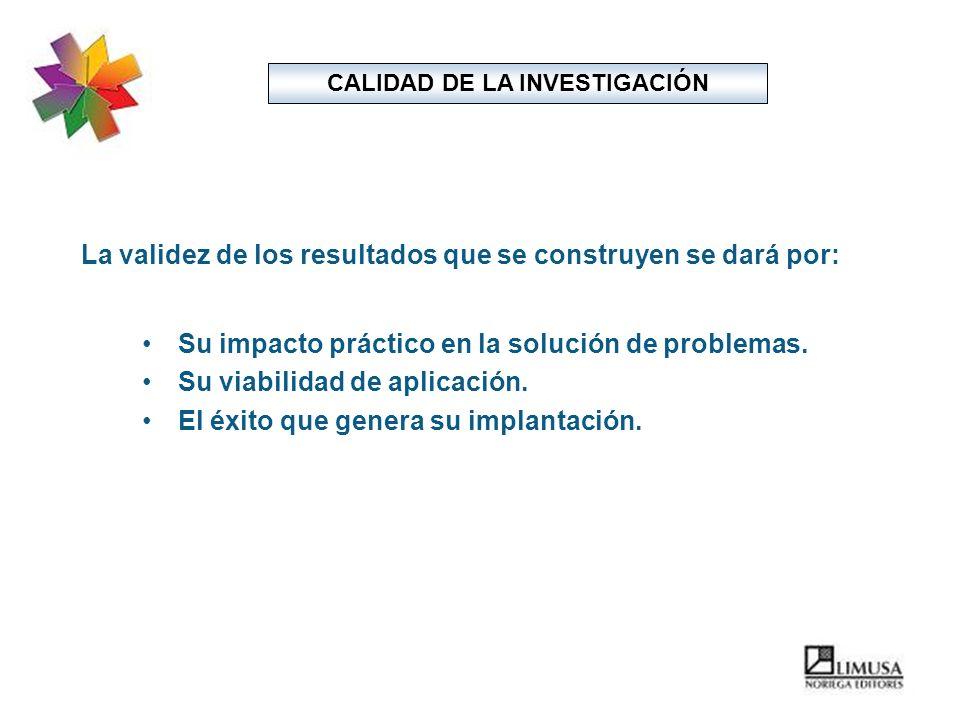 CALIDAD DE LA INVESTIGACIÓN
