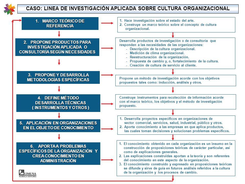 CASO: LINEA DE INVESTIGACIÓN APLICADA SOBRE CULTURA ORGANIZACIONAL