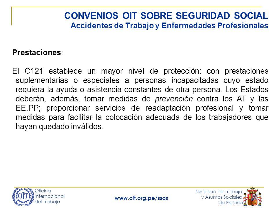 CONVENIOS OIT SOBRE SEGURIDAD SOCIAL Accidentes de Trabajo y Enfermedades Profesionales