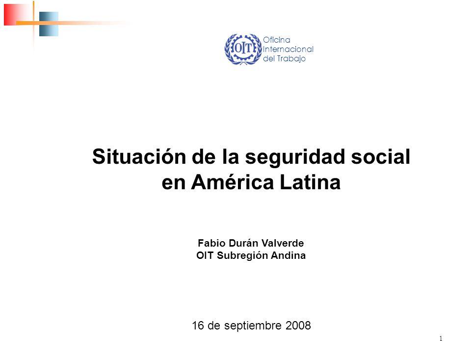 Situación de la seguridad social