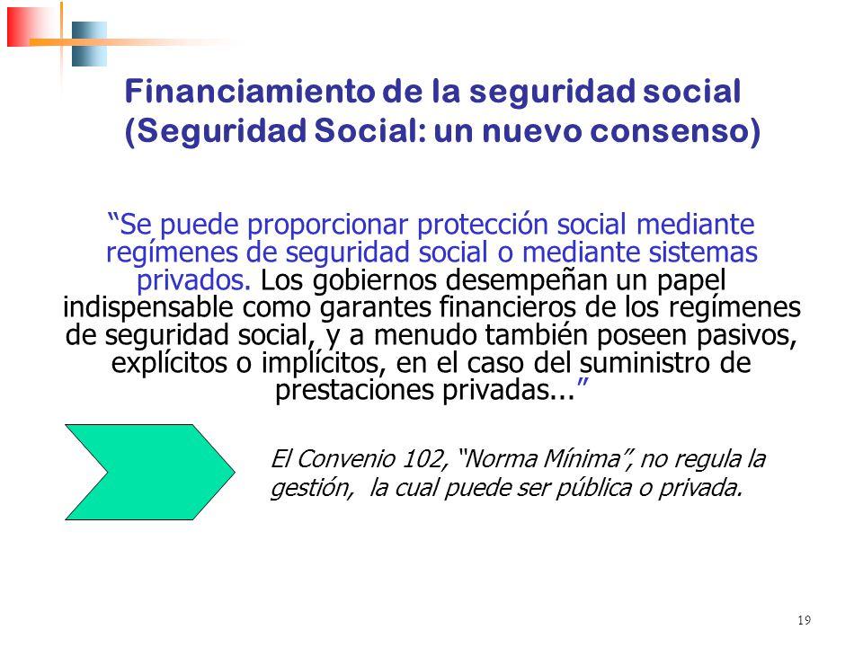 Financiamiento de la seguridad social (Seguridad Social: un nuevo consenso)