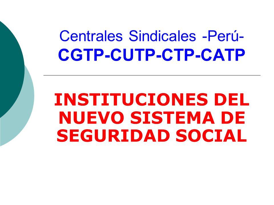 Centrales Sindicales -Perú- CGTP-CUTP-CTP-CATP