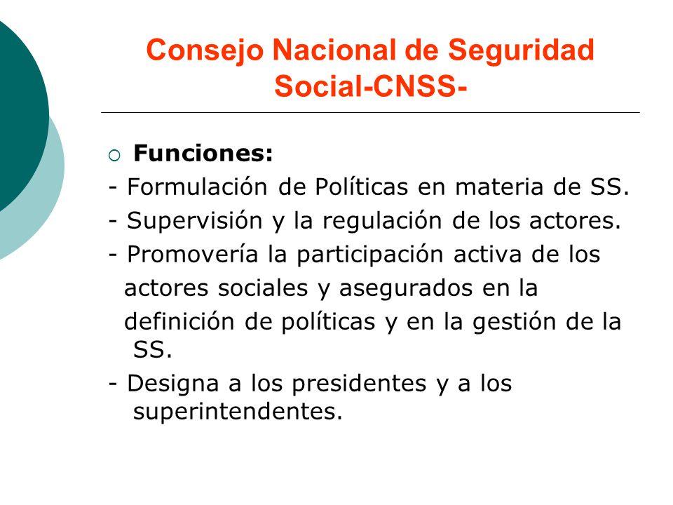 Consejo Nacional de Seguridad Social-CNSS-