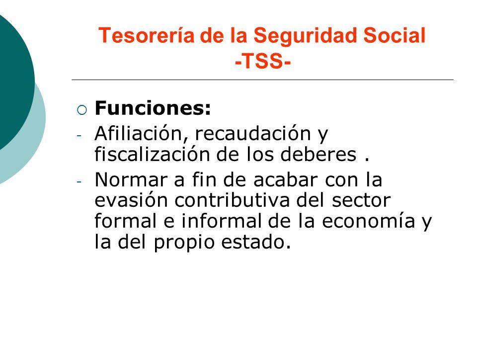 Tesorería de la Seguridad Social -TSS-
