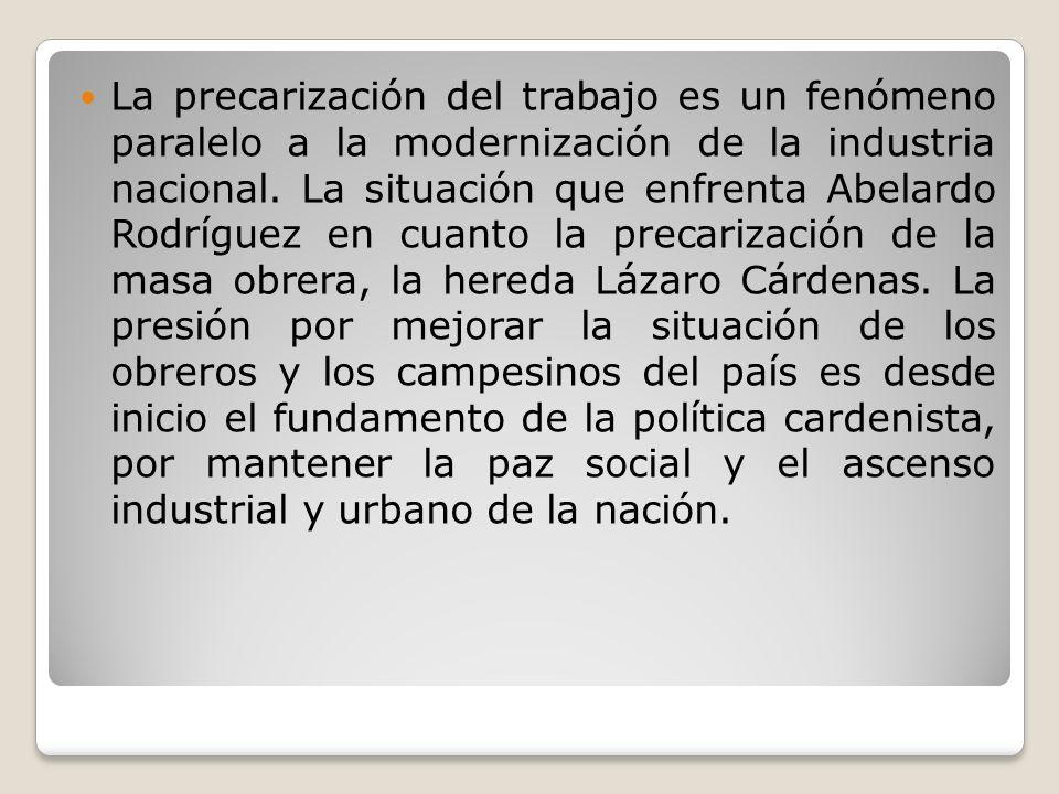 La precarización del trabajo es un fenómeno paralelo a la modernización de la industria nacional.