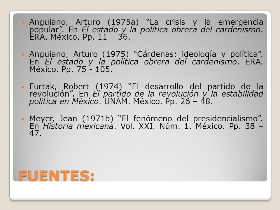 Anguiano, Arturo (1975a) La crisis y la emergencia popular