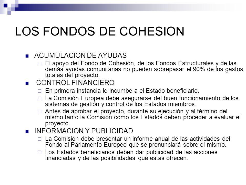LOS FONDOS DE COHESION ACUMULACION DE AYUDAS CONTROL FINANCIERO
