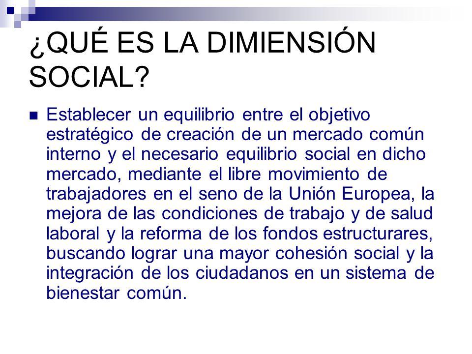¿QUÉ ES LA DIMIENSIÓN SOCIAL