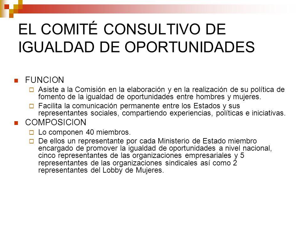 EL COMITÉ CONSULTIVO DE IGUALDAD DE OPORTUNIDADES