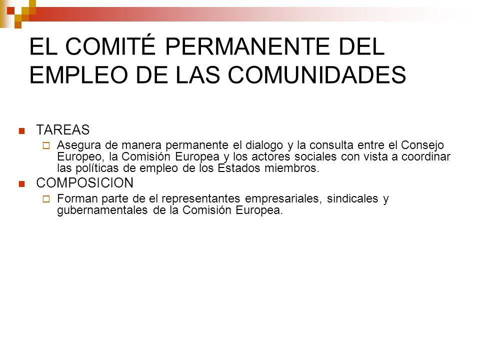 EL COMITÉ PERMANENTE DEL EMPLEO DE LAS COMUNIDADES