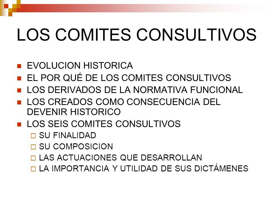 LOS COMITES CONSULTIVOS