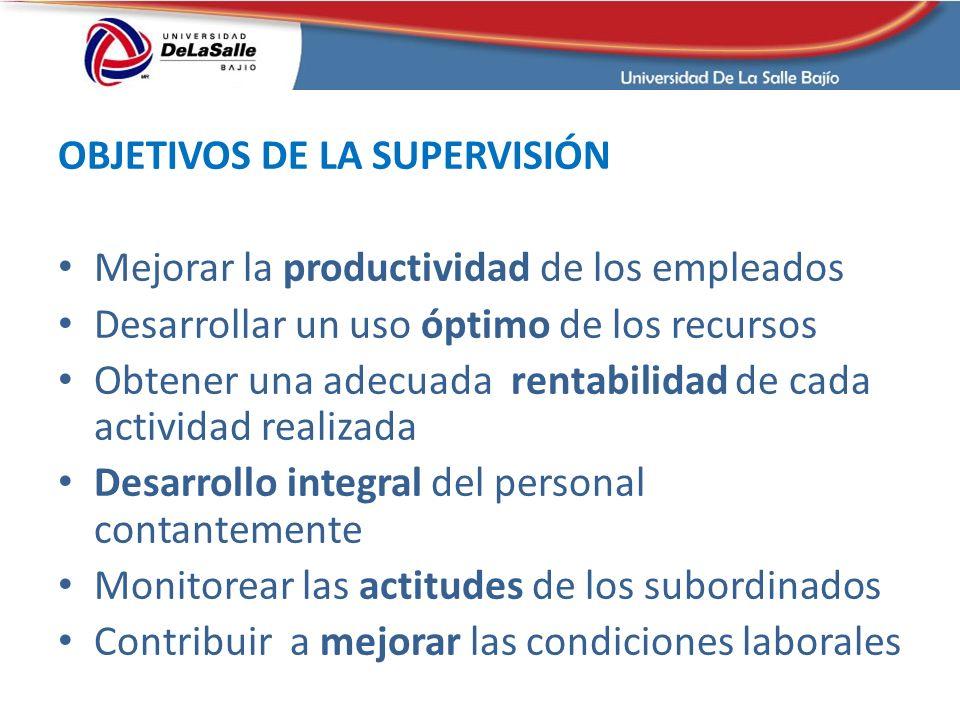 OBJETIVOS DE LA SUPERVISIÓN