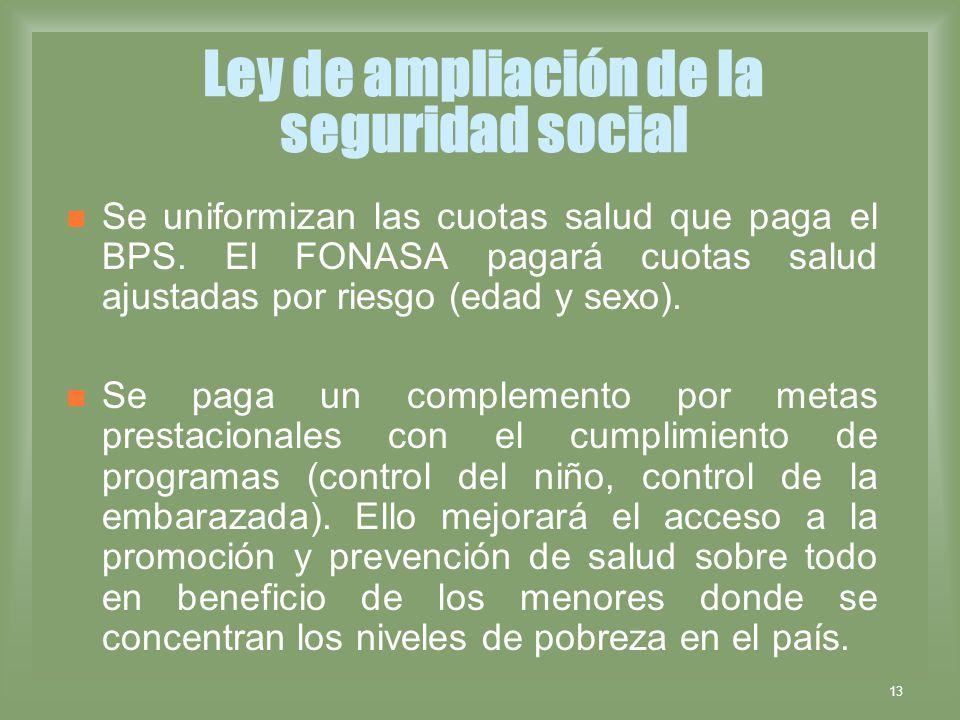 Ley de ampliación de la seguridad social