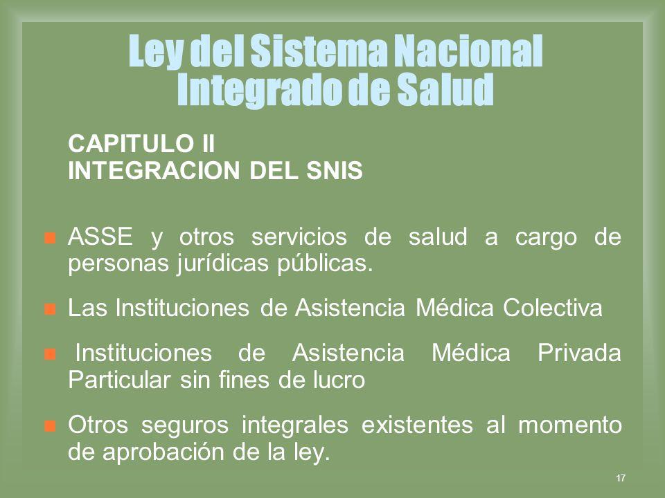 Ley del Sistema Nacional Integrado de Salud