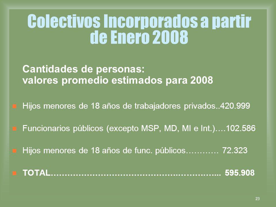 Colectivos Incorporados a partir de Enero 2008