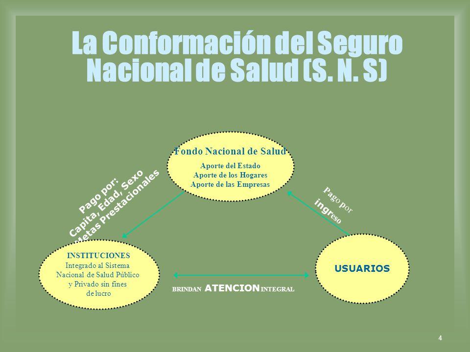 La Conformación del Seguro Nacional de Salud (S. N. S)