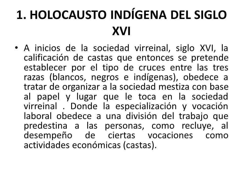 1. HOLOCAUSTO INDÍGENA DEL SIGLO XVI