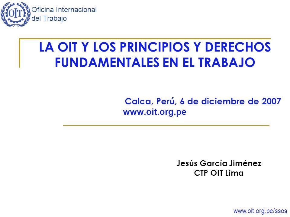 LA OIT Y LOS PRINCIPIOS Y DERECHOS FUNDAMENTALES EN EL TRABAJO